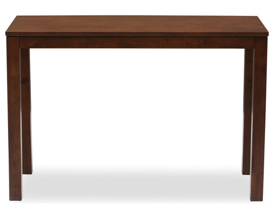 Bryght - Juno Cocoa Wood Console - Simple and classic. You can't go wrong with the Juno console. Beautifully smooth wood veneered top in a warm cocoa stain and sleek straight lines accentuate its modern undertones