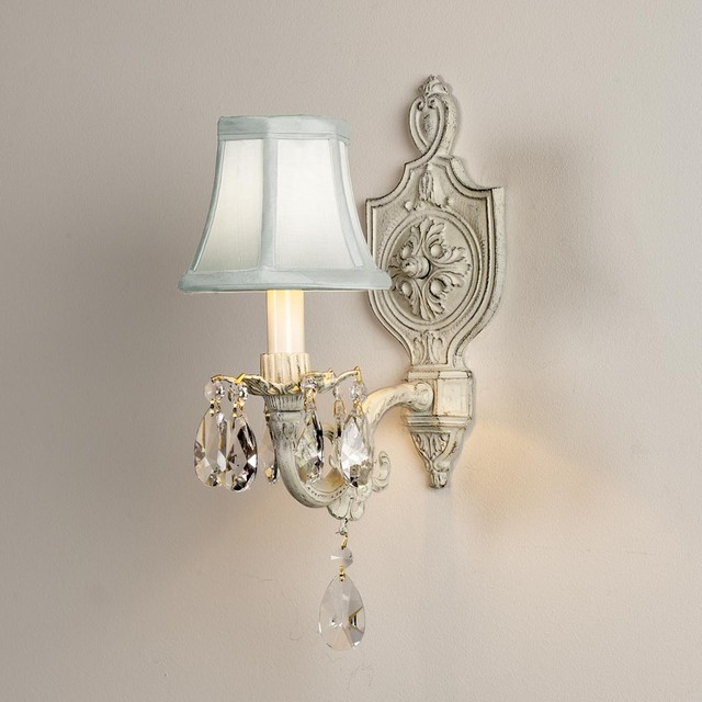 Cottage Bathroom Wall Lights : Vintage Cream Cottage Chic Sconce - Wall Sconces - by Shades of Light
