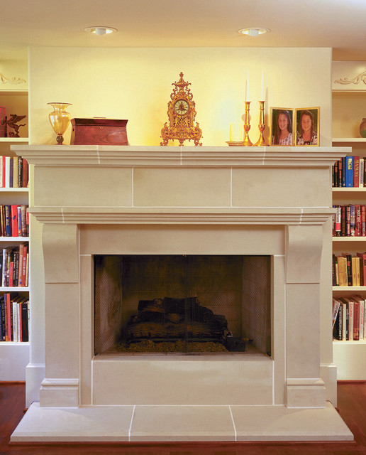cambridge cast stone fireplace mantel traditional