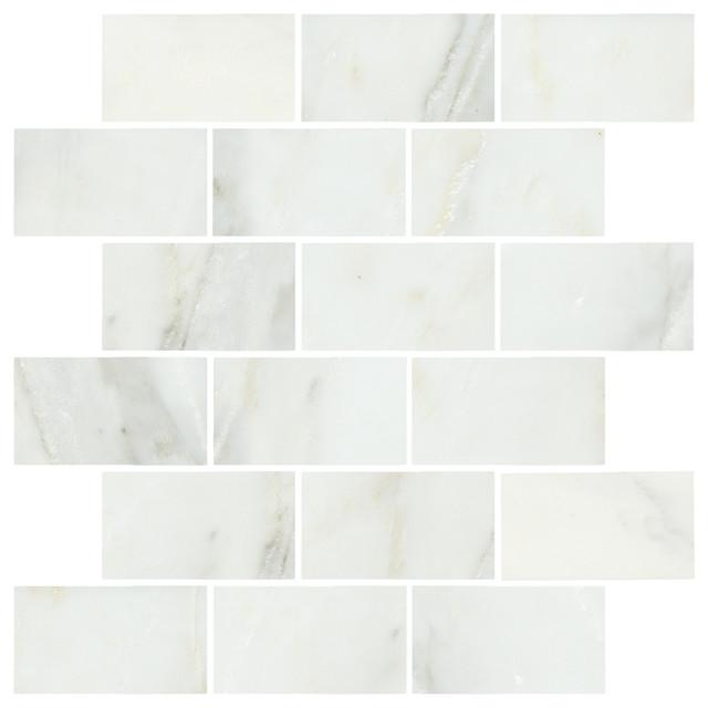 Lansdale Carrara Mosaics transitional-tile