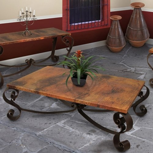 Artisan Mallorca Rectangle Copper Coffee Table Contemporary Coffee Tables By Hayneedle