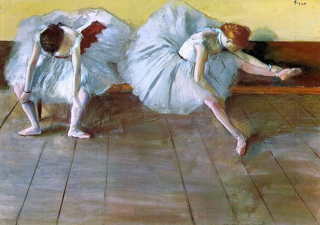 "Edgar Degas Two Ballet Dancers - 16"" x 24"" Premium Archival Print traditional-artwork"