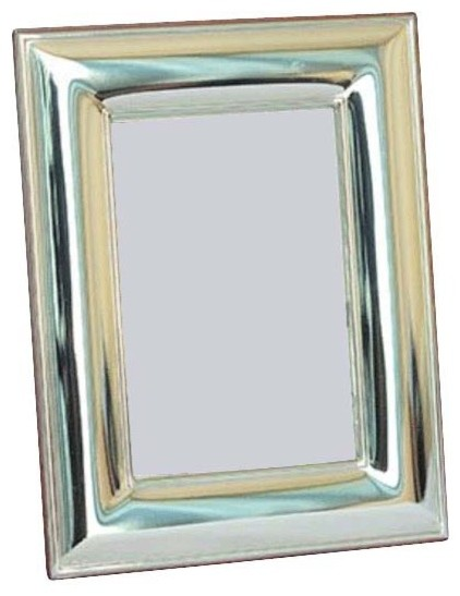 "3.5""x5"" Maleka Sterling Silver Picture Frame contemporary-picture-frames"