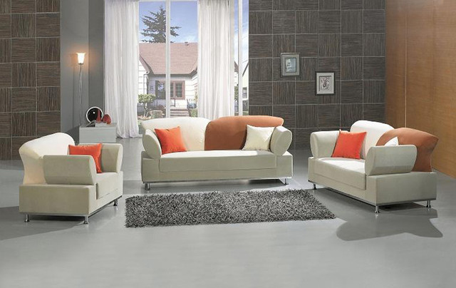 Modern Sofa Set With Pillows Contemporary Living Room Furniture Sets Ne