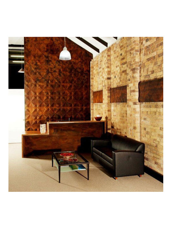 Gallery Sydney Australia - 3D wall decoration takes this gallery in Australia to the next level of interior decoration instantly. With a bit of brown rusty paint the walls and their embossing effect looked magnificent and an exclusive look and feel!