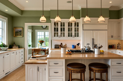 Green Kitchen Walls Magnificent Of Green Kitchen Color Wall Paint Photo