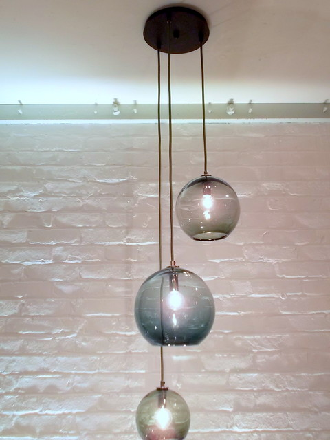 shades of gray cluster pendant light bubble chandelier