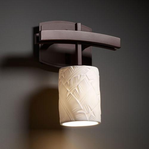 Limoges Archway Dark Bronze Wall Sconce contemporary-bathroom-vanity-lighting
