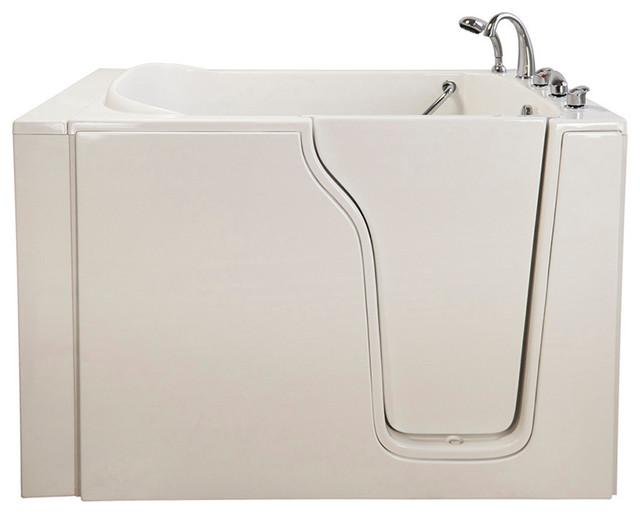 Bariatric 33 Whirlpool Walk-In Bathtub in White with Right Drain/Door modern-bathtubs