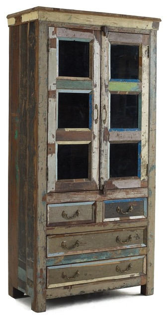 Shabby Chic Hutch Cabinet - Eclectic - China Cabinets And Hutches ...