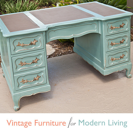 Model Shabby Chic Painting Desk Office Ideas