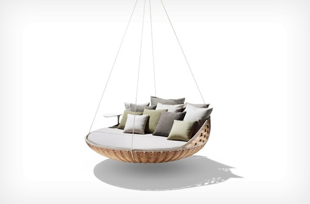 Swingerst Hanging Lounger, Natural - contemporary - outdoor ...