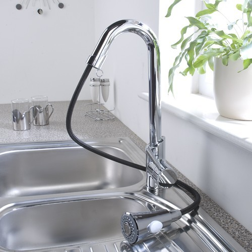 Chrome Pull Out Kitchen Faucet contemporary-kitchen-faucets