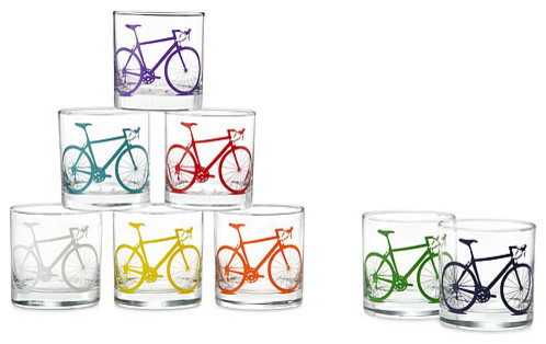 Bicycle Glasses eclectic-everyday-glassware