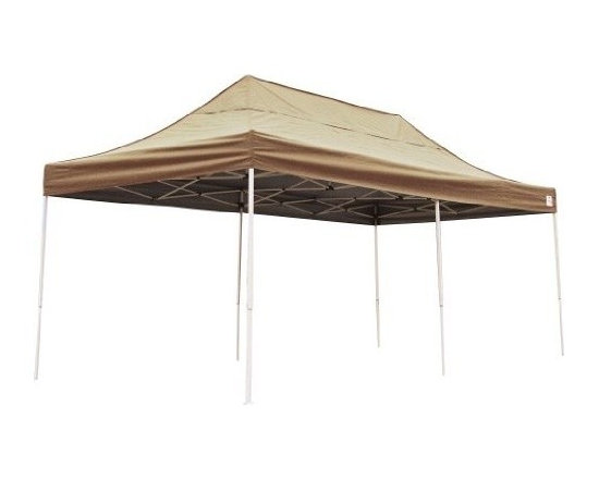 Shelterlogic - Straight Leg Popup Canopy, 10'x20', Desert Bronze Cover, Black Roller Bag - The biggest pop-up on the market. The new Pro Series 10 x 20 ft. / 3 x 6,1 m Truss Top Pop-Up combines expansive truss design, quality construction and show room good looks in one great to go unit.