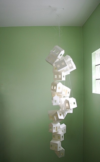 Paper House Mobile by Creator B modern artwork
