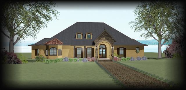 Custom Designed Home Plans traditional-exterior-elevation
