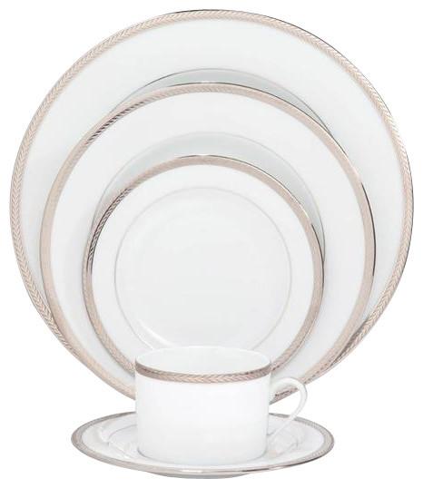Philippe Deshoulieres Laurel Platinum 5-Piece Place Setting contemporary-dinnerware-sets