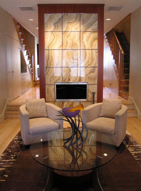 Onyx Fireplace contemporary-family-room