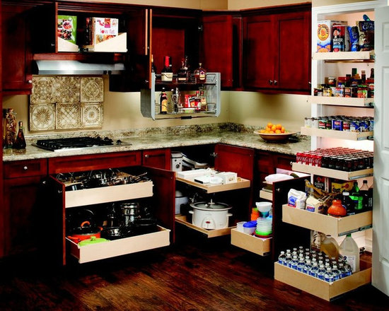 Glide-Out Shelves for Your Entire Kitchen - Outfit your entire kitchen with pull out shelves and accessories from ShelfGenie of Connecticut and gain better access and visibility to everything in the kitchen.