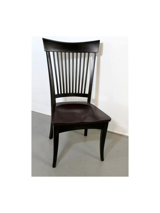 Concord Style Dining Chair In Black Finish - Made by http://www.ecustomfinishes.com