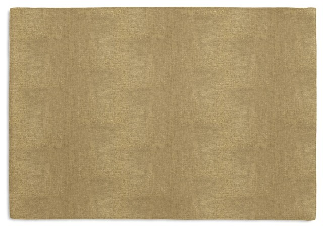 Metallic Gold Coated Khaki Linen Custom Placemat Set contemporary-placemats