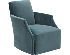 Jolie Swivel Chair, Vance Bermuda eclectic-chairs