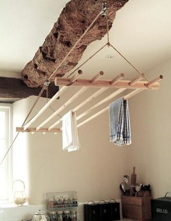 Ceiling Clothes Dryer Contemporary Drying Racks By