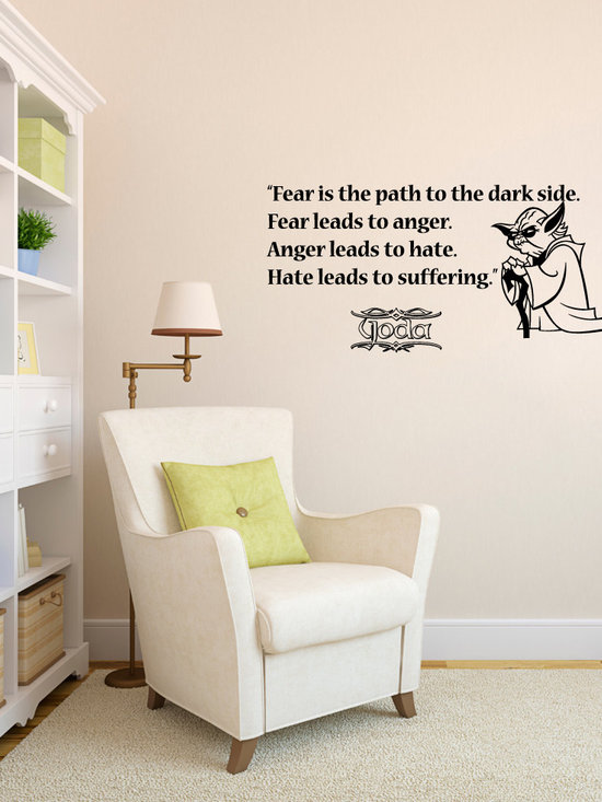 Vinyl Decals Fear Path Dark Side Star Wars Quote Home Wall Decor Removable Stick -
