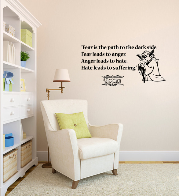 Vinyl Decals Fear Path Dark Side Star Wars Quote Home Wall