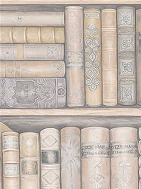 Illusions Bookcase Wallpaper - Eclectic - Wallpaper - houston - by ...