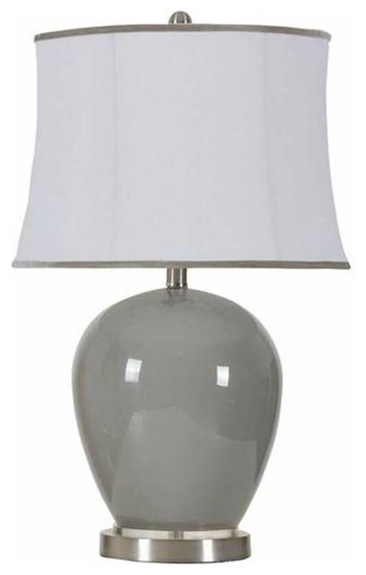 Glass Table Lamp Grey