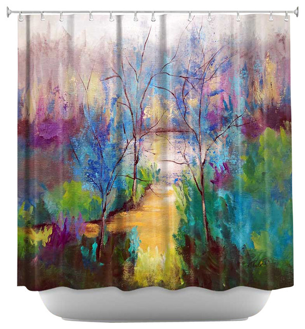 Shower Curtain Artistic - And God Saw That It Was Good contemporary-shower-curtains