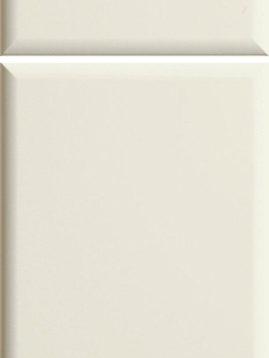 "Dura Supreme Cabinetry - Dura Supreme Cabinetry Naples Cabinet Door Style - Dura Supreme Cabinetry ""Naples"" cabinet door style shown in Thermofoil - Satin Foil with Dura Supreme's ""Satin White"" finish."