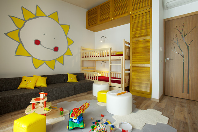 Residence in Trakai, Lithuania contemporary-kids