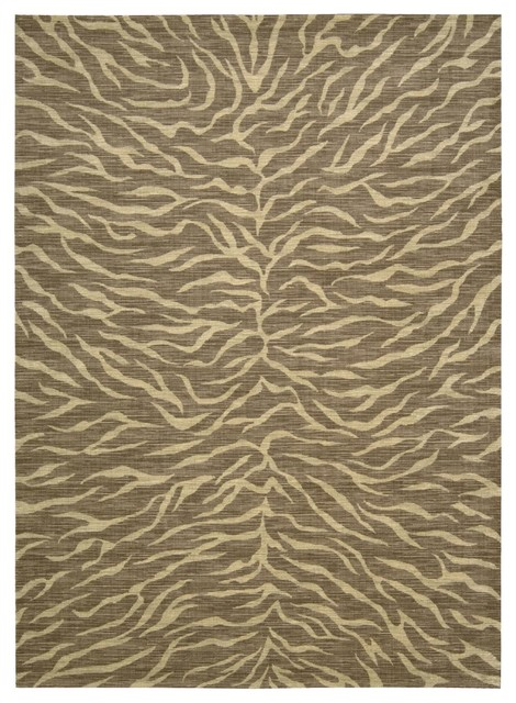 "Transitional Riviera 5'3""x7'5"" Rectangle Chocolate Area Rug transitional-rugs"