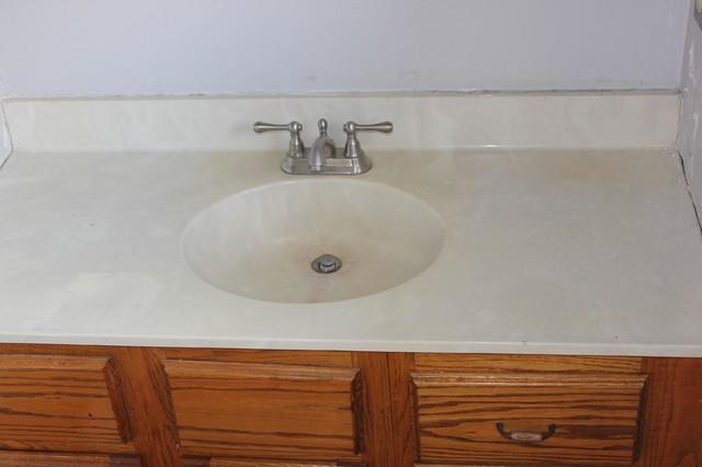 Concrete vanity top traditional