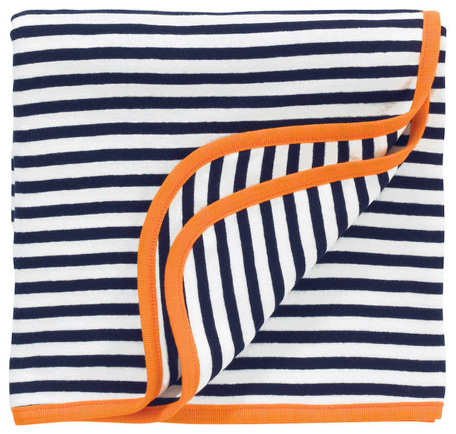 Better Basics Receiving Blanket & Giraffe Gift Set, Orange Cotton contemporary-baby-bedding