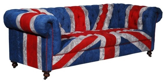 Bensington Vintage Union Jack Sofa eclectic-sofas