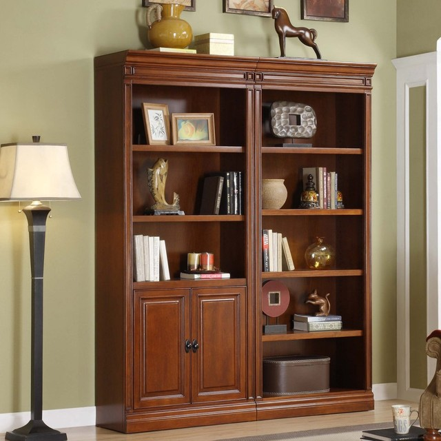 Whalen Augusta Bookcase With Optional Bookcase With Doors