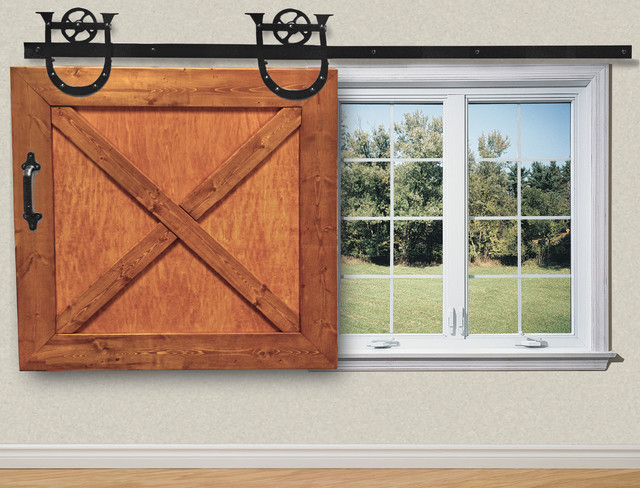 Sliding Window Shade Rustic Window Treatments Other