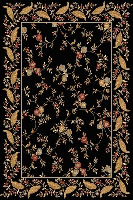 "Dynamic Rugs Yazd 2801-93 2' x 3'6"" Black Rug contemporary-rugs"
