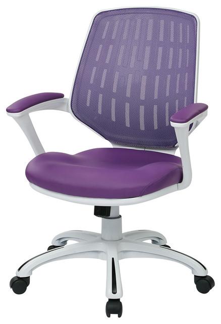 Calvin fice Chair Purple Contemporary fice Chairs