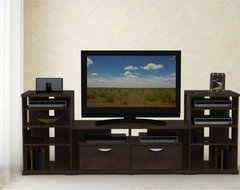 Jasper TV Console with Two Audio Cabinets contemporary-media-storage