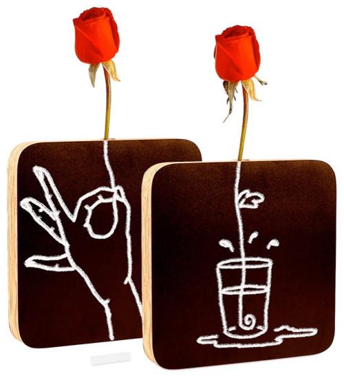 chalkboard vase vases