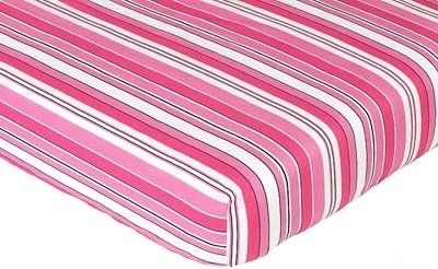 Madison Stripe Print Crib and Toddler Sheet contemporary-cribs