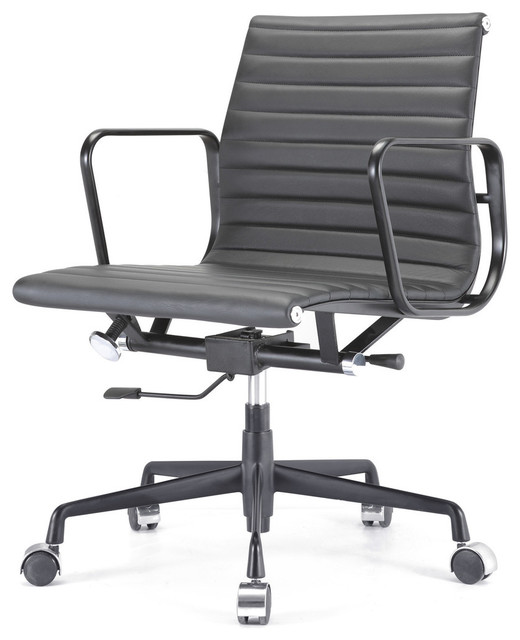 M341 Eames Style Aluminum Group fice Chair All Black