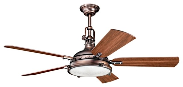 "Kichler Hatteras Bay 300018OBB Indoor Oil Rubbed Bronze 56"" Ceiling Fan beach-style-ceiling-fans"