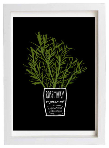 Rosemary Kitchen Art Print by anek contemporary-artwork
