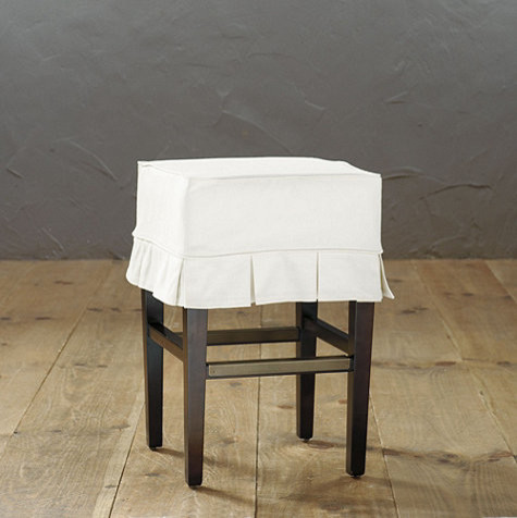 Counter Height Chair Slipcovers : ... Slipcovered Counter Stool traditional-bar-stools-and-counter-stools